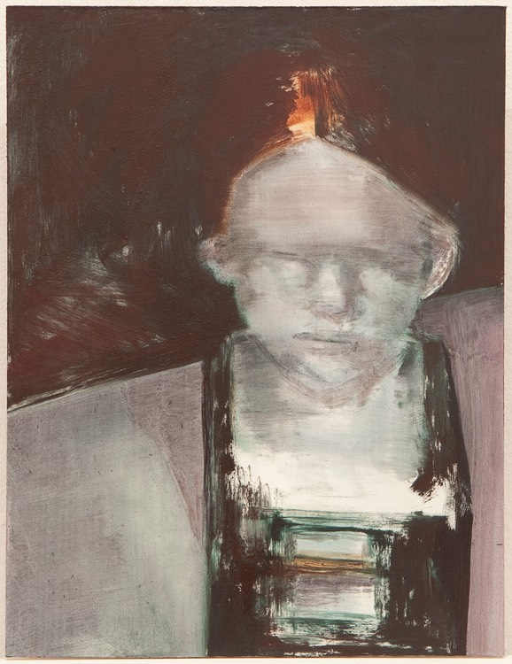 Metal face I, oil on panel, 39x29,8 cm 2010